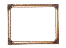 Ornate antique gold gilt frame Royalty Free Stock Images