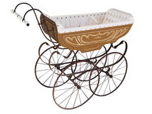 Ornate Antique Pram Royalty Free Stock Images