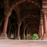 Ornate arcade. Elaborately carved arcade at The Red Fort in Delhi, India stock photos