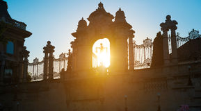 Ornate arched gateway to the Buda Castle Or Royal Palace Stock Photography