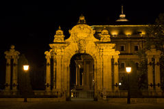 Ornate arched gateway to Palace Royalty Free Stock Images