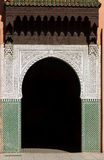 Ornate, Arched, Tiled, Moorish Style exterior door Stock Photos