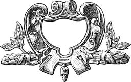 Ornate architectural detail stock illustration