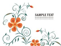 Ornate background. Vector drawing of the stylized flowers Royalty Free Stock Photos