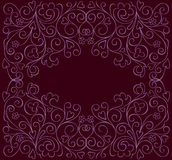 Ornate background. Beautiful floral background with place for text Stock Images