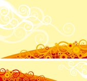 Ornate background. Vector background and banner of ornate elements on abstract background Stock Photography