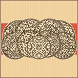 Ornate background. Asian theme ornamental card background Stock Photography