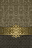 Ornate background with border and vintage ornament. Royalty Free Stock Photos