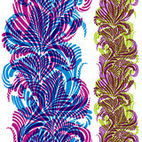 Ornate background with colorful vertical seamless pattern. Stock Photography
