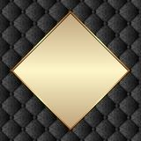 Background. Ornate background with decorative pattern and golden frame Stock Photos
