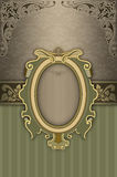 Ornate background with decorative patterns and frame. Royalty Free Stock Images