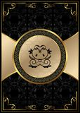 Ornate background with golden luxury framed label Stock Photography