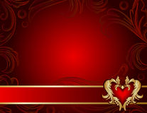 Ornate background with heart shape Royalty Free Stock Images