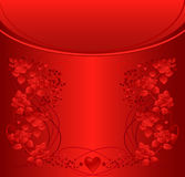 Ornate background with roses and heart shapes. Royalty Free Stock Photos