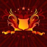 Ornate background shield Royalty Free Stock Photo