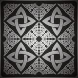 Ornate background vector. Ornate black background, сeltic design vector illustration Royalty Free Stock Photo