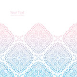 Ornate background. Vector ornate light background with copy space and paisley mandalas Stock Images