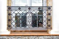 Ornate balcony of wrought iron Stock Images