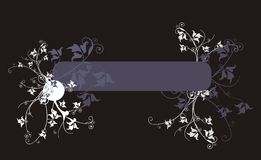 Ornate banner. Banner decorated with floral ornaments Royalty Free Stock Photo
