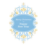 Ornate banner for Christmas and New Year design. Royalty Free Stock Photos