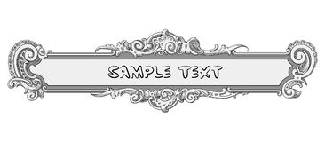 Ornate banner vector Royalty Free Stock Images