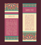Ornate banners Royalty Free Stock Images