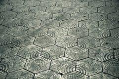 Ornate Barcelona Pavement Stock Photography
