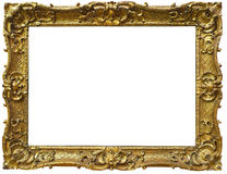 Vintage Baroque Gold Frame. Ornate baroque gold vintage picture frame isolated on white background Royalty Free Stock Photo