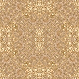 Ornate Baroque Seamless Pattern Mosaic. Digital collage technique oriental style ornate seamless pattern design in brown and golden tones Royalty Free Stock Photos