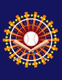 Ornate Baseball Graphic! Royalty Free Stock Photo