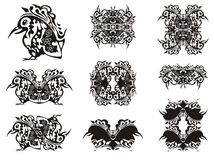 Ornate bird symbols Stock Photos