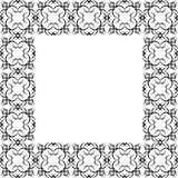 Ornate Black Border Stock Photos
