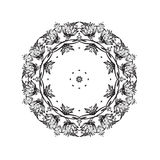 Ornate black frame on white background. Royalty Free Stock Photography