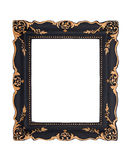 Ornate black and golden baroque frame isolated on the white back Royalty Free Stock Images