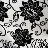 Ornate black and white floral tapestry Stock Photos