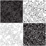 Ornate black and white texture Royalty Free Stock Photography