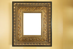Ornate Blank Picture Frame on Wall Stock Photos