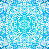 Ornate blue doodle vector seamless pattern Stock Photography