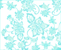 Ornate Blue Flower Background Royalty Free Stock Photo