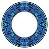 Ornate blue frame stock photo