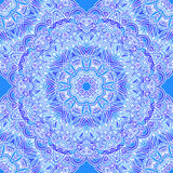 Ornate blue napkin vector seamless pattern Royalty Free Stock Photography