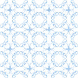 Ornate blue seamless geometrical patterns decor for wallpaper. E. Ndless texture Royalty Free Stock Images