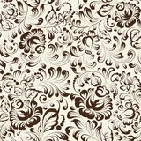 Ornate blue and white floral seamless pattern in Royalty Free Stock Images