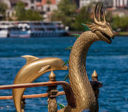 Ornate Boat Decorations on the Bosphorus Royalty Free Stock Images