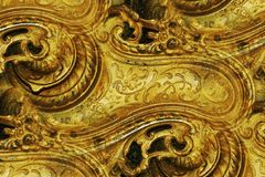 Ornate brass design abstract Royalty Free Stock Images