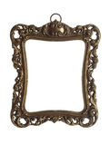 Ornate brass picture frame with clipping path Royalty Free Stock Photo