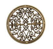 Ornate brass stand. Or plaque Stock Photography