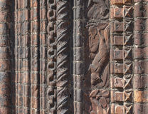 Ornate Brick Wall Moldings Royalty Free Stock Image