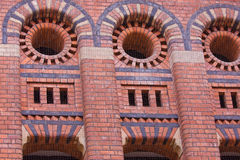 Ornate Brickwork in Former Granary Stock Photos