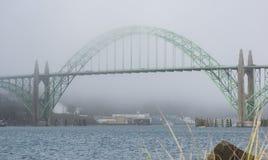 Ornate bridge at Newport, Oregon Stock Photos